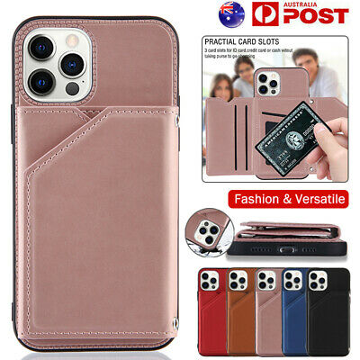 AU13.99 • Buy For IPhone 12 11 Pro Max Mini SE 8 7 Plus XR XS Case Leather Wallet Cards Cover