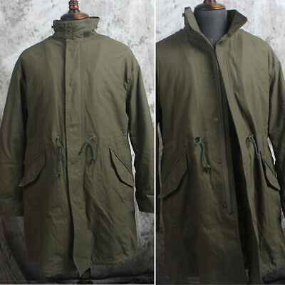 $109.45 • Buy M51 Military Long Jacket Men's Winter Warm Removable Liner Work Tank Trench Coat