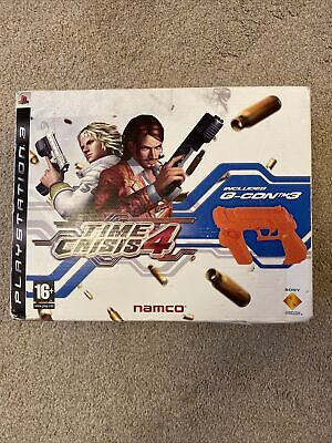 Time Crisis 4 With G-Con 3 Gun And Sensors PS3 Playstation 3 Game  • 26£