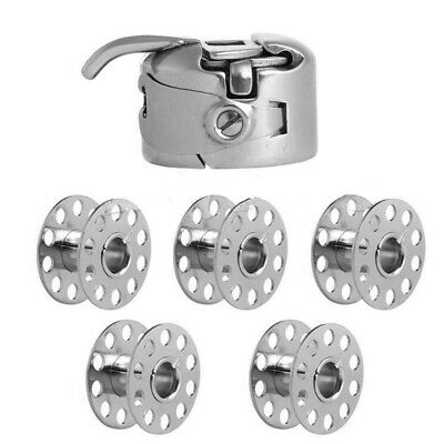 5x Sewing Machine Bobbin Spool Case For Toyota Brother Janome Singer +50 Bobbins • 5.08£