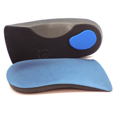 3/4 Orthotic Arch Support Insoles For Plantar Fasciitis Fallen Arches Flat Feet • 2.89£