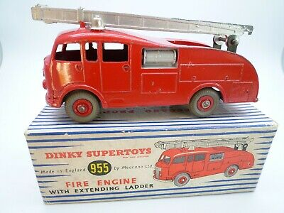 Vintage Dinky 955 Commer Fire Engine In Original Box Issued 1954-64 • 31£