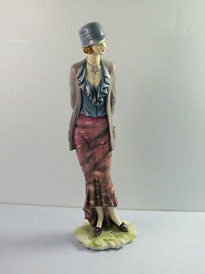 The Regal Collection Figurine P027 ROSIE- Lady In Fashion Outfit - 26cm Tall • 19.99£