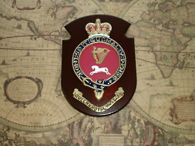 Regimental Military Wall Plaque Crest QUEENS ROYAL HUSSARS • 50£