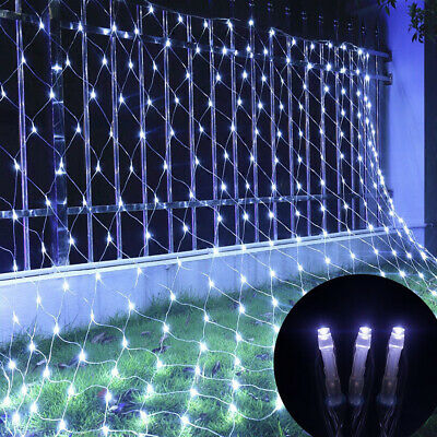LED Net String Lights Curtain Mesh Fairy Lights For Christmas Tree Party Outdoor • 13.79£