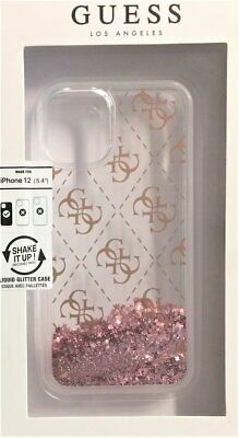 Guess Hard-Case Liquid Glitter 4G Logo Pink For IPHONE 12 Mini 5,4   Protection • 28.37£