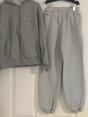Boys Lacoste Grey Tracksuit Top And Bottoms - Age 12  • 3.80£