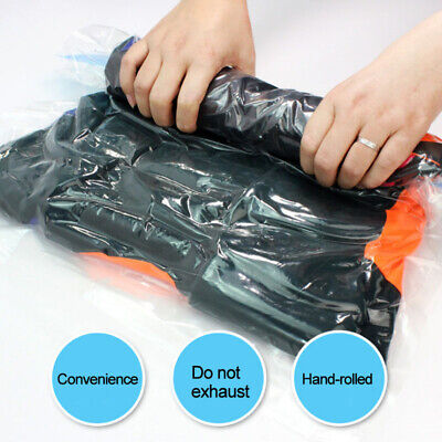 £3.04 • Buy 4sizes Roll-up Seal Compression Vacuum Space Saver Storage Organizer Bags 67UK