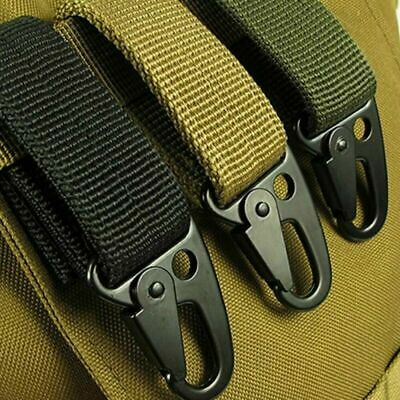 2xNylon Tactical Molle Belt Carabiner Key Holder Camp Bag Hook Buckle Strap Clip • 4.31£