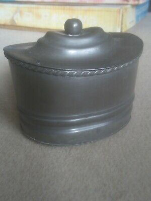 Vintage James Dixon And Son Pewter Pot Butter Pate Tobacco Early 19C • 14.99£