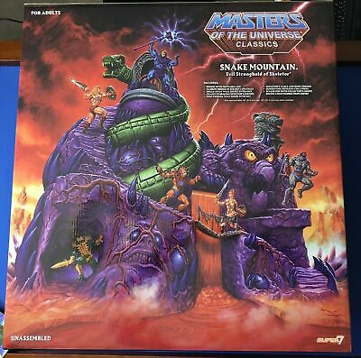 $715 • Buy Master Of The Universe (MOTU) Snake Mountain Play Set Super 7 Factory Sealed NEW