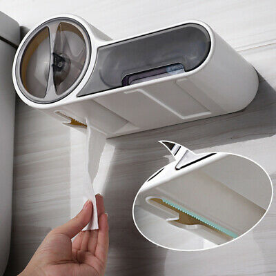 AU31.25 • Buy Toilet Paper Dispenser Holder Wall Mounted Waterproof Bathroom Home Tissue Boxes