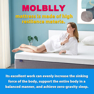 AU89.99 • Buy 15 CM Queen Size Memory Foam Bed Mattress With More Pressure Relief & Support