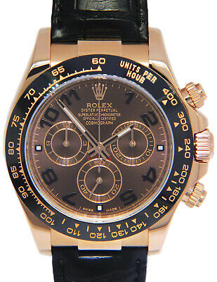 $ CDN41376.29 • Buy Rolex Daytona 18k Rose Gold Ceramic Chocolate Watch On Strap Box/Papers 116515