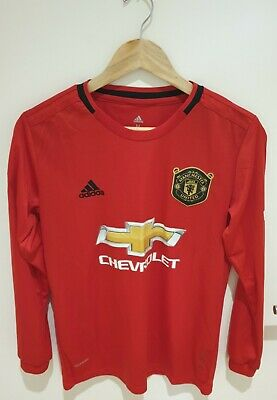 Manchester United Adidas Long Sleeve Home Kit 2019/20 - Medium - Mint Condition • 19.99£