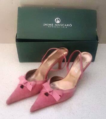 £7.95 • Buy Jaime Mascaro Pale Pink Fabric Occasion Shoes UK Size 6 In Used Condition