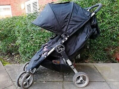 Baby Jogger City Mini Black Standard Double Seat Stroller Used • 49£