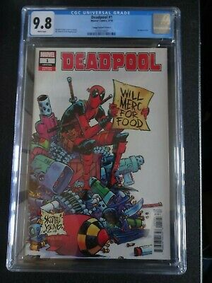 AU255.68 • Buy CGC Comic Graded 9.8 Deadpool Marvel  #1  Cover Key Issue Skottie Young Variant