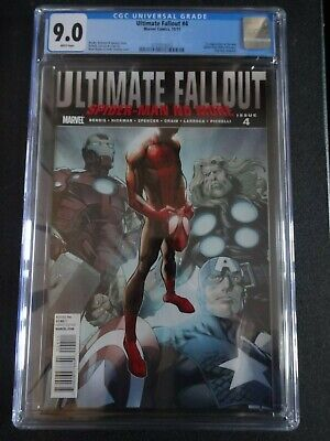 AU547.71 • Buy CGC Comic Graded 9.0 Ultimate Fallout  #4  Cover Key Issue 1st App Miles Morales