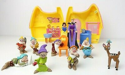 Disney Snow White And The Seven Dwarfs Figure Set Bundle RARE • 27.99£