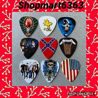 $ CDN8.95 • Buy Lot Of 9  Collectible 🎸MIXED 🎸  Guitar Picks Brand New # 317