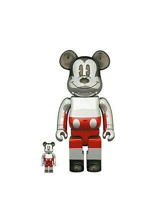 $374 • Buy BEARBRICK FUTURE MICKEY MOUSE 2nd COLOR 100% 400% *CONFIRMED ORDER* PRE-ORDER