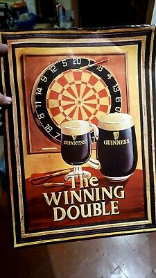 Authentic Promotional Bar Poster - Guinness - The WInning Double  • 2.75£