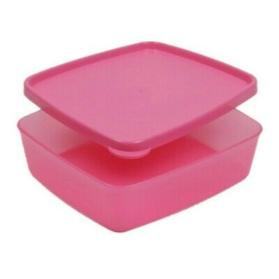 Tupperware Square Away 250ml Lunch Box, Pink • 5.50£