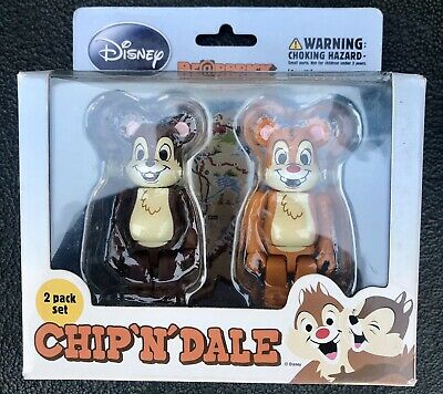 $50 • Buy Chip And Dale 100% Bearbrick Set Medicom Be@rBrick Rare Limited Disney 2010