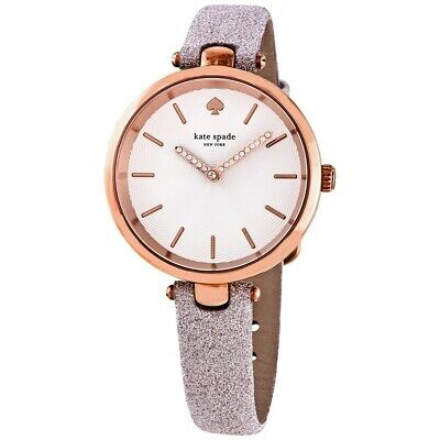 $ CDN89.25 • Buy Kate Spade Holland Rose Gold Tone Sparkly Leather Band Women's Watch KSW1474 SD