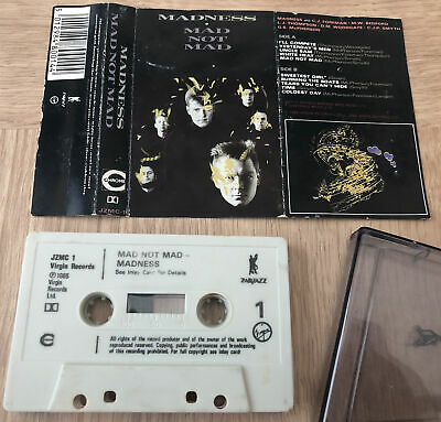 Madness - Mad Not Mad (Cassette Tape, 1985) • 0.50£