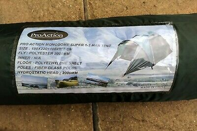 Proaction Monodome 1-2 Man Tent Green With Full Instructions Included • 10.99£