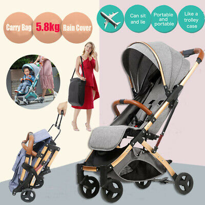 AU93.66 • Buy Compact Foldable Baby Stroller Portable Lightweight Travel Pram Carry On Plane