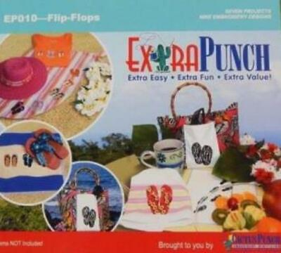 $2.69 • Buy ExtrapPunch: Flip-Flops PC CD Embroidery Machines 9 Designs, 7 Projects Cactus