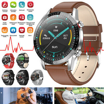 AU60.99 • Buy Smart Watch Waterproof ECG Blood Oxygen Heart Rate Monitor For Android IPhone