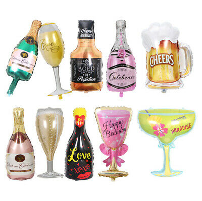 AU4.95 • Buy Large 3D Champagne Wine Bottle Whisky Beer Cocktail Martini Foil Party Balloon