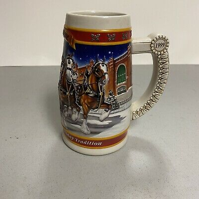 $ CDN12.96 • Buy Vintage Budweiser Stein Christmas A Century Of Holiday Tradition 1900-1999 Used