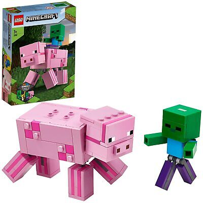 Lego Minecraft 21157 BIG Fig Series 2 Pig And Zombie Set (BRAND NEW & SEALED) • 19.99£