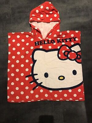 Hello Kitty Hooded Bath Swim Towel Toddlers Childrens Towel Excellent Condition • 3.99£