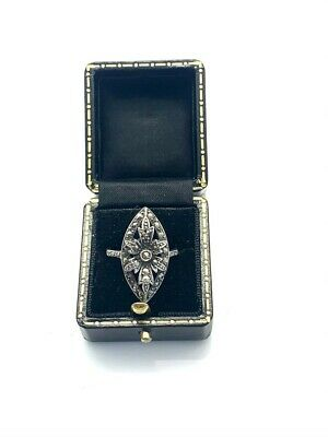 A Beautiful Vintage Art Deco Style 925 Sterling Silver Marcasite Ring P 1/2 4.87 • 0.99£