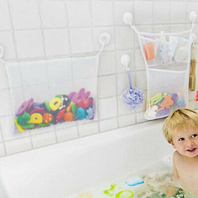 Baby Bath Bathtub Toy Mesh Net Storage Bag Suction Cup Bathroom Organiser TR16 • 7.59£