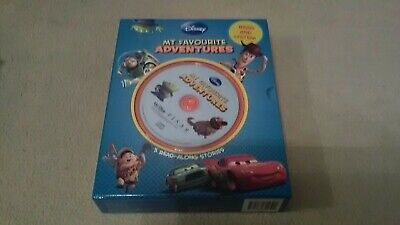 Disney My Favourite Adventures Book Set & Read Along 5 Cd Toy Story. Up. Cars • 6.99£
