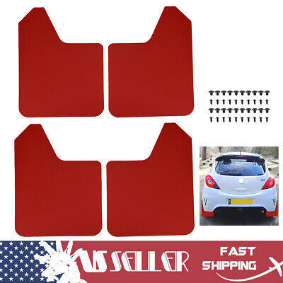 $23.36 • Buy Red Mudguards Mud Flaps Splash Guards Mudflaps Fender Flares Dirty Universal US