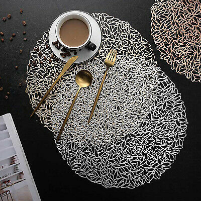 AU22.49 • Buy Set Of 4 PVC Round Placemat Dining Table Mats Washable Insulation Pads Kitchen