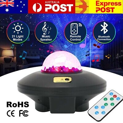 AU31.99 • Buy Galaxy Starry Night Light Projector Ocean Star Sky Party Baby Kids Room LED Lamp