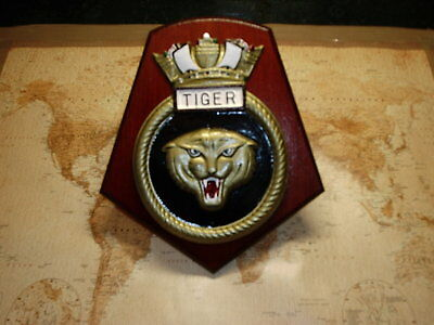 Ships Crest - Hms Tiger 8 By 7 Ins • 39£