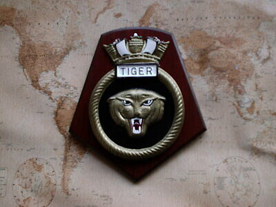 Ships Crest - Hms Tiger 8/half By 7 Inches • 38.50£