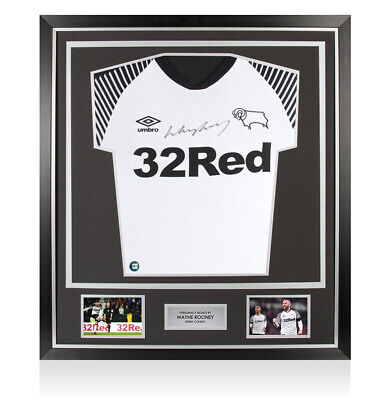 £339.99 • Buy Framed Wayne Rooney Signed Derby County Shirt 2019-20 - Premium Autograph