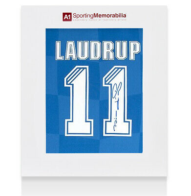 £265.99 • Buy Brian Laudrup Signed Rangers Shirt - Number 11 - Gift Box Autograph Jersey