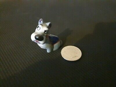 WADE Whimsie Lady And Tramp Disney Hat Box - Rare JOCK With Blue COAT • 12.50£